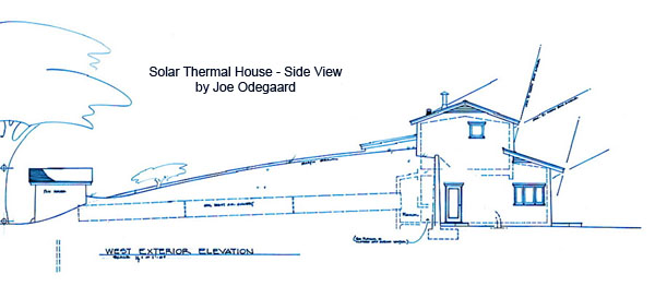 Solar Thermal House West Elevation